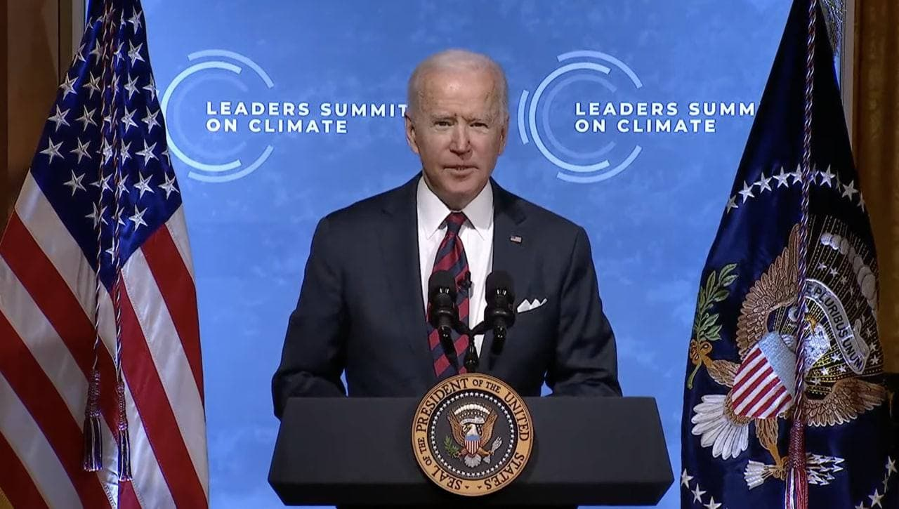 Байден ініціював дводенний віртуальний саміт лідерів з клімату. Росія і Китай в списку учасників