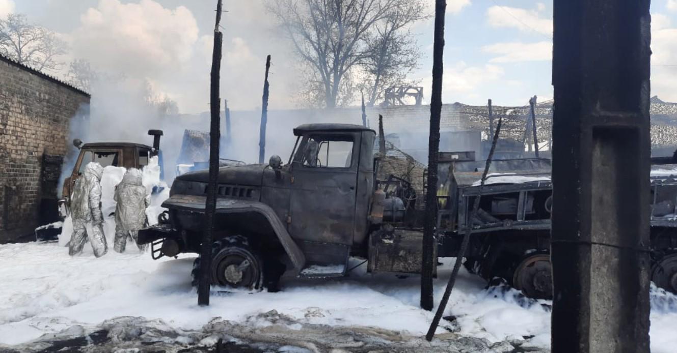 ДБР відкрило справу через пожежу у військовій частині Рубіжного з трьома постраждалими