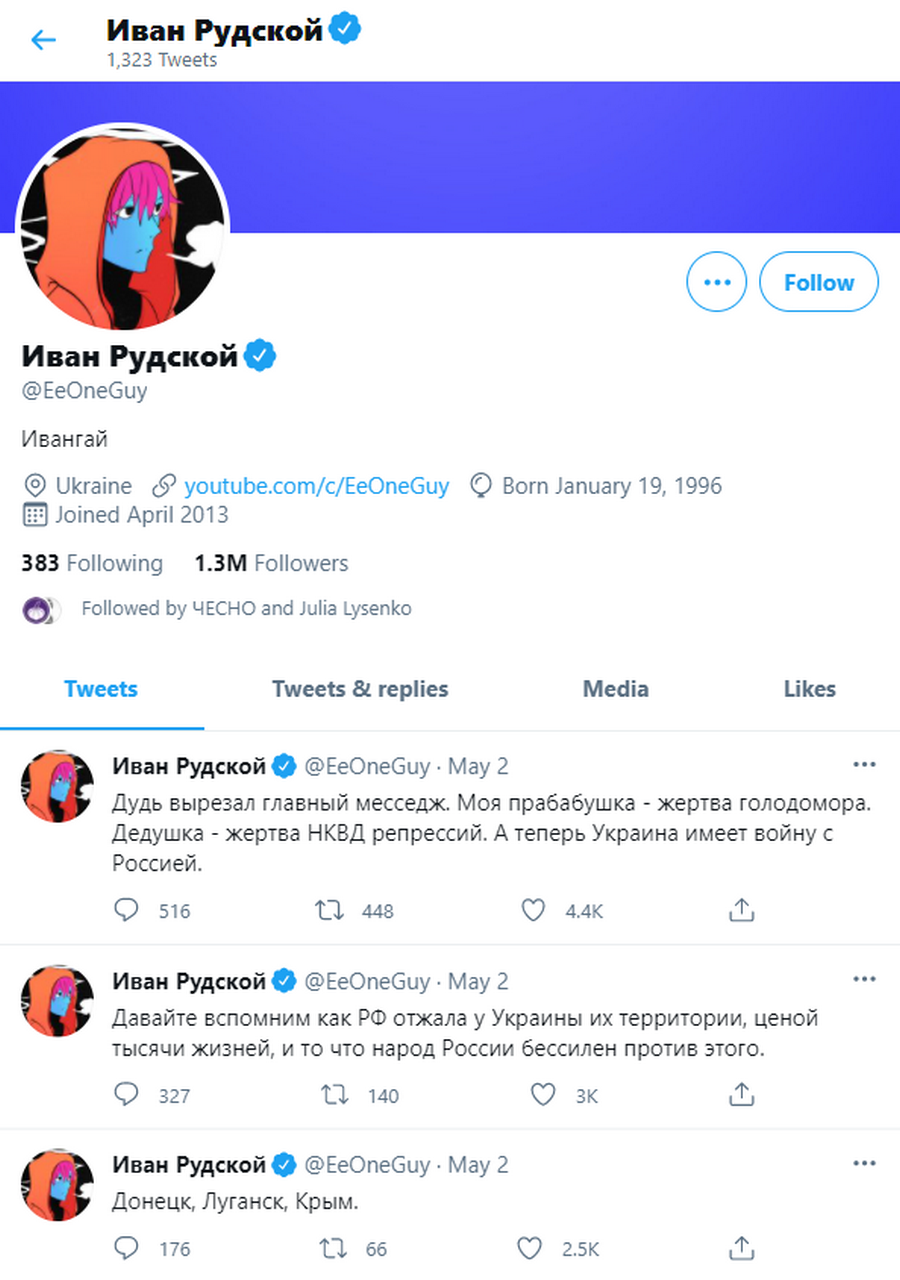 Твиттер Ивангая