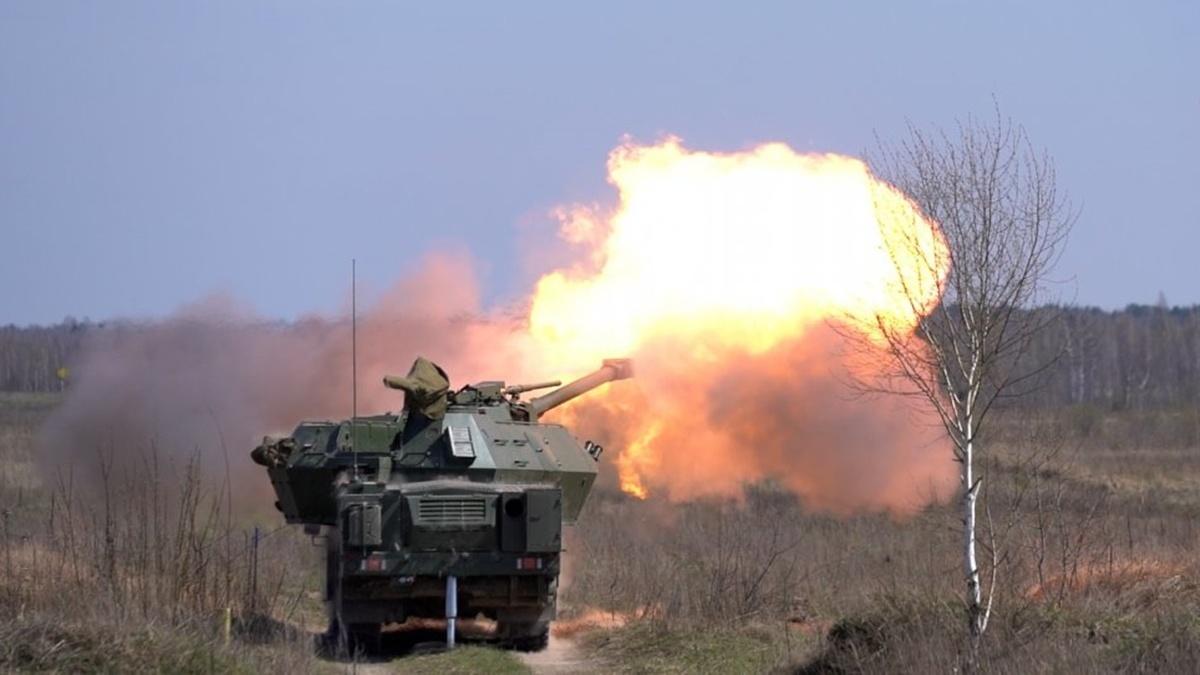 В Украине испытали чешскую самоходную гаубицу