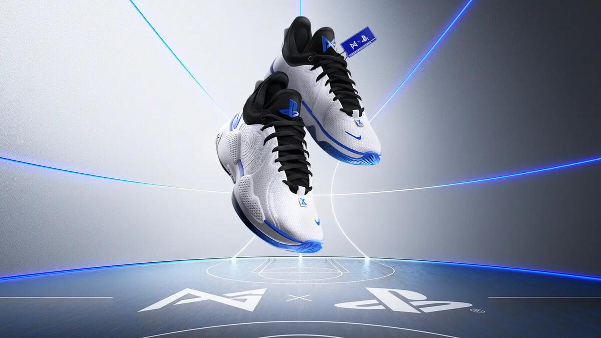 Баскетболист Пол Джордж и PlayStation представили новую линейку кроссовок Nike, стилизованных под PS5