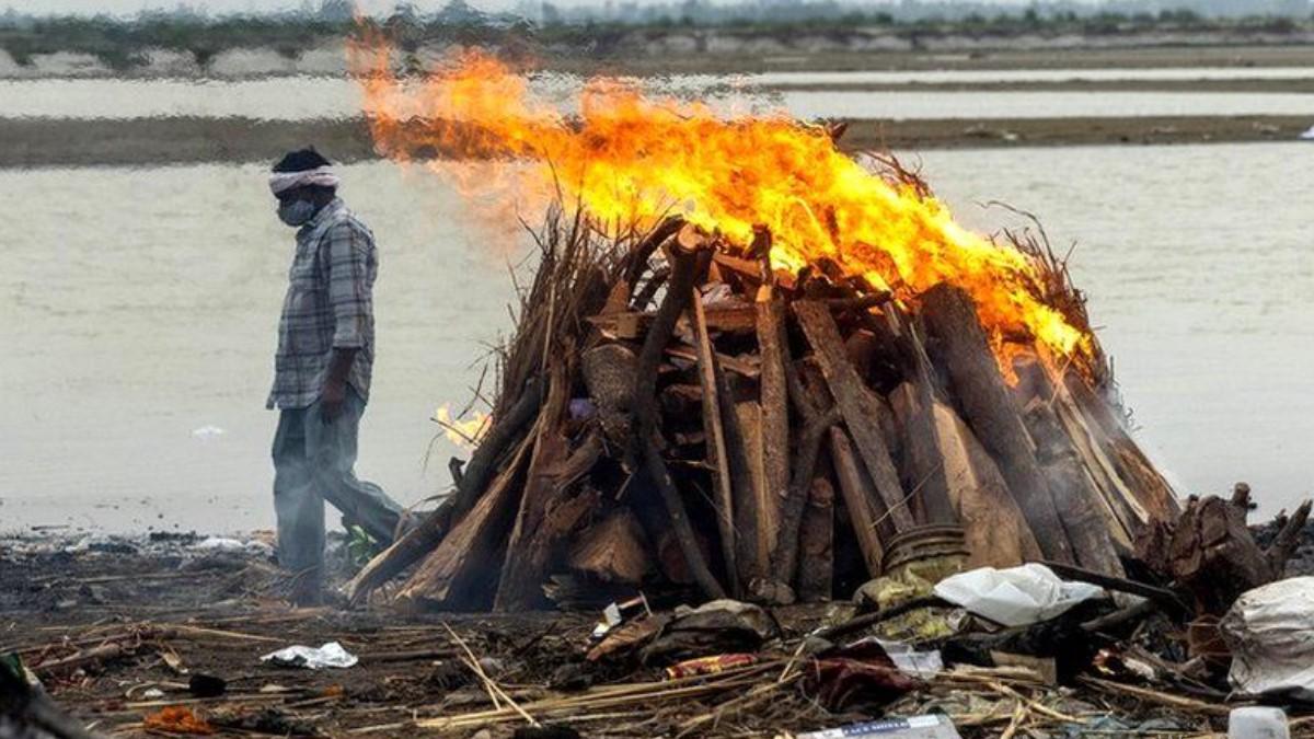 В Индии на берегу реки нашли около 40 человеческих тел