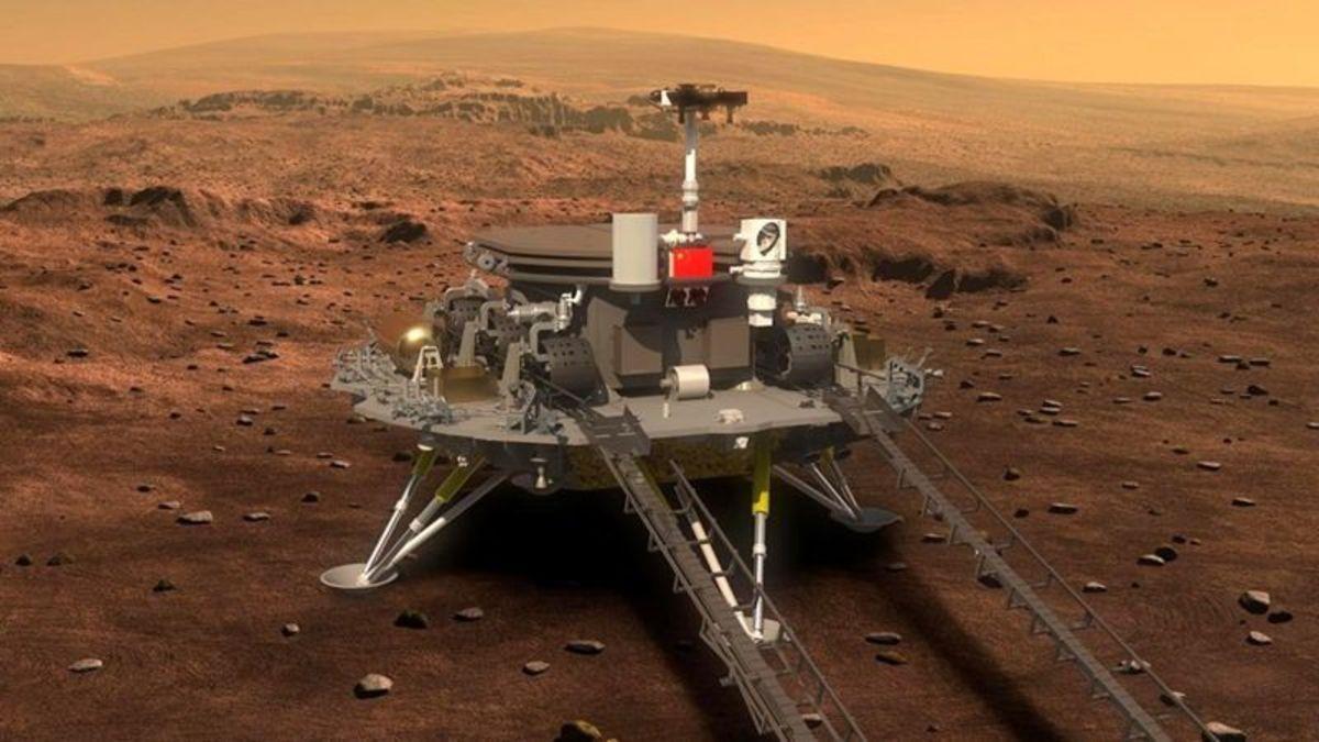 На Марсе высадился Китай: зонд «Вопросы к небу» сел на Красной планете