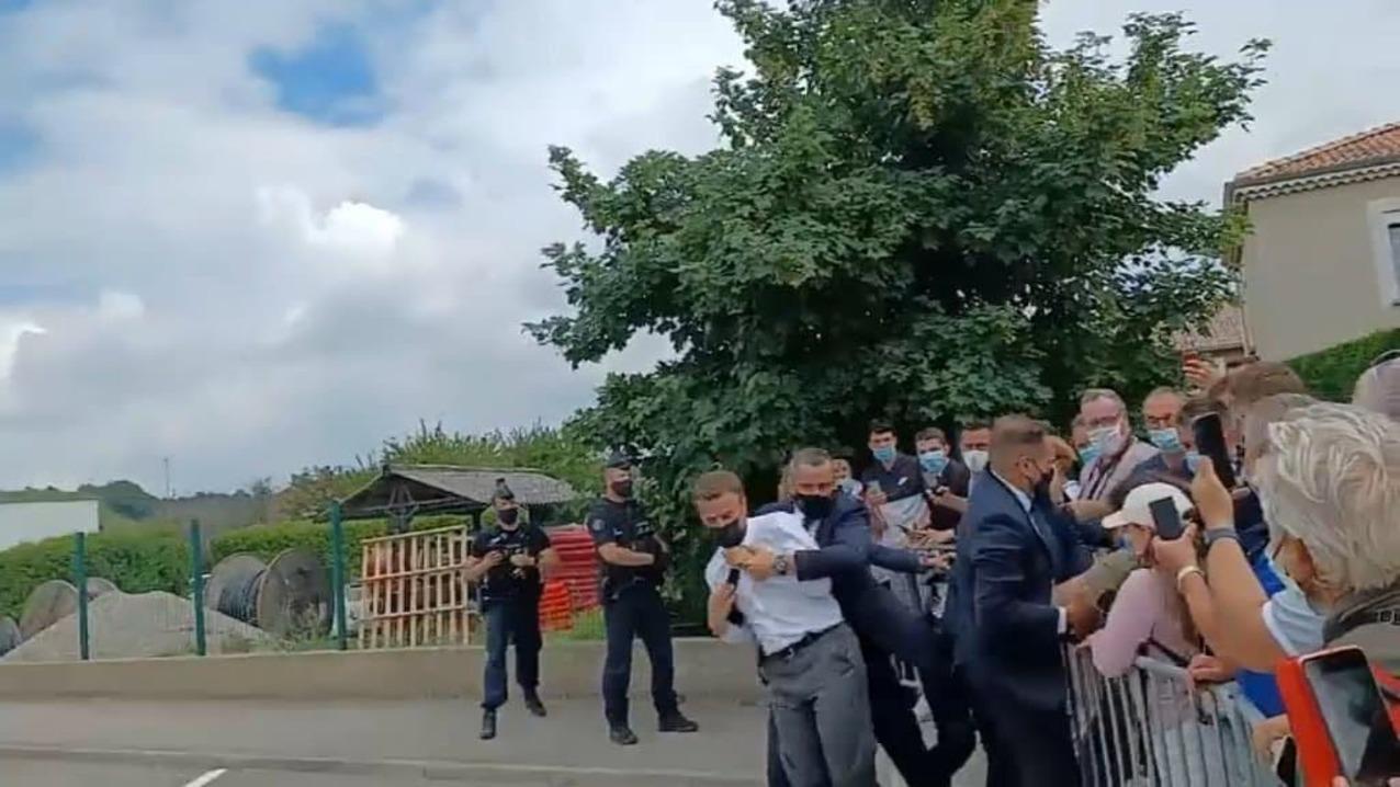 Во Франции арестовали мужчину, который дал пощёчину президенту Макрону