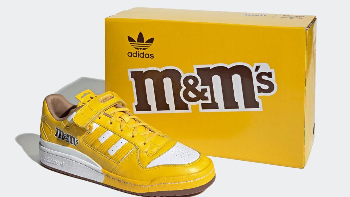 Adidas выпустит в шести цветах новую линейку кроссовок в коллаборации с M&M's