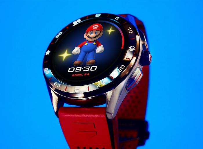 Nintendo и TAG Heuer показали ограниченную линейку смарт-часов в стиле Super Mario