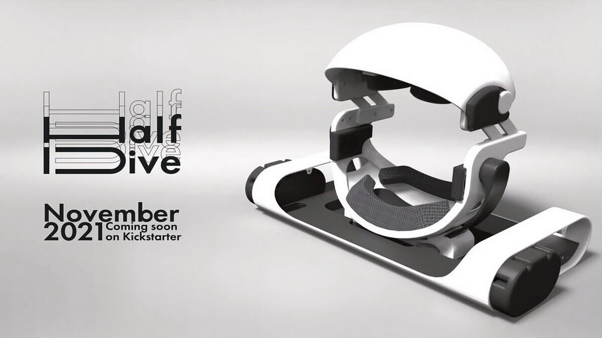 Японский стартап Diver-X анонсировал нестандартную VR-гарнитуру, которую нужно использовать лёжа
