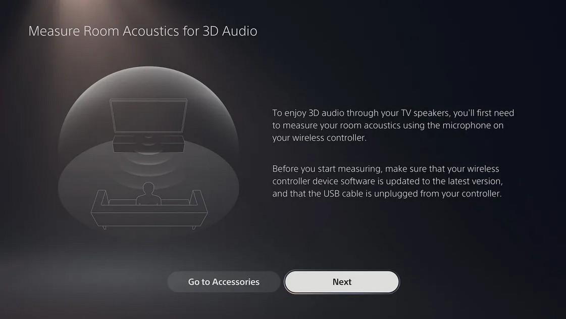 С обновлением в PlayStation 5 появится 3D-звук, который будет воспроизводиться через встроенные стереодинамики телевизора