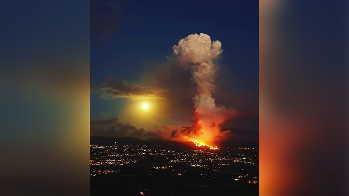 Извержение вулкана Кумбре-Вьеха на Канарах усилилось: на острове закрыли аэропорт