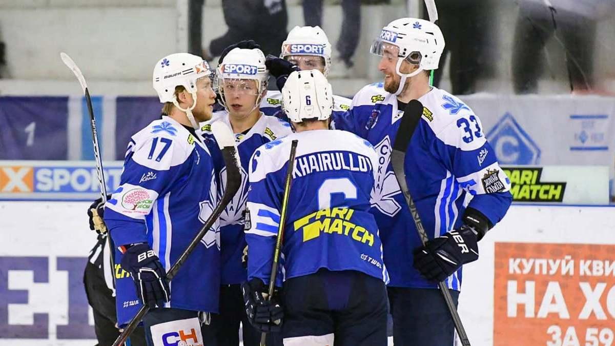 «Сокол» победил «Мариуполь» в стартовом поединке седьмого тура Украинской хоккейной лиги