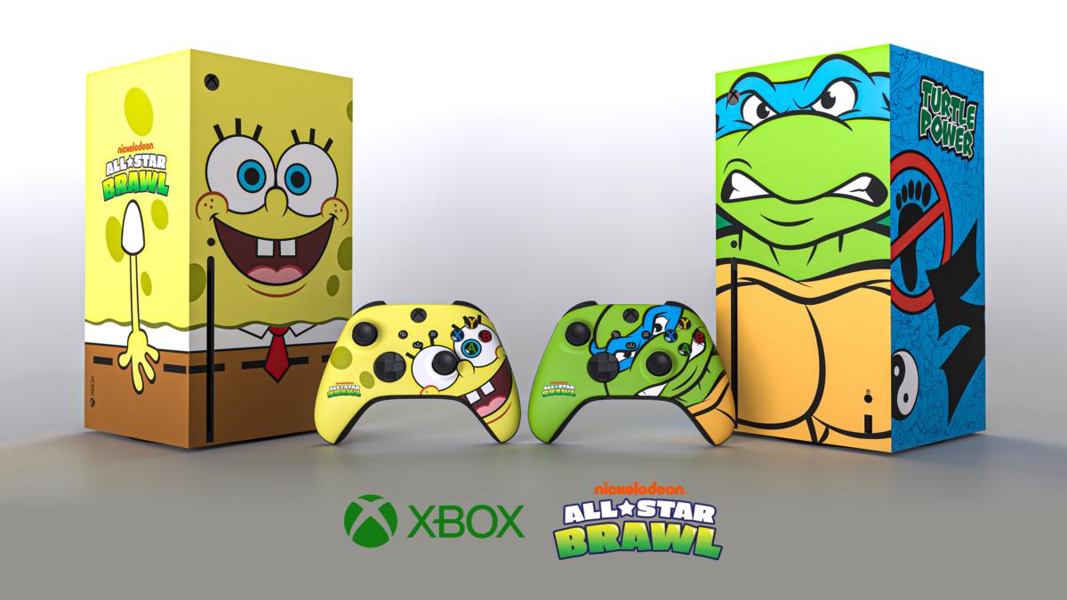 Microsoft устроила розыгрыш консолей Xbox Series X, стилизованных под «Черепашек-ниндзя» и «Губку Боба»
