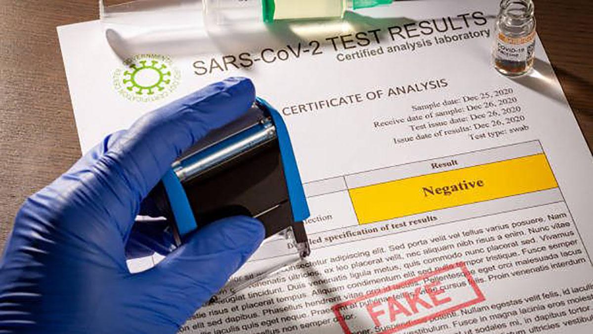 В Харькове турагентство закупало в лаборатории поддельные ПЦР-тесты