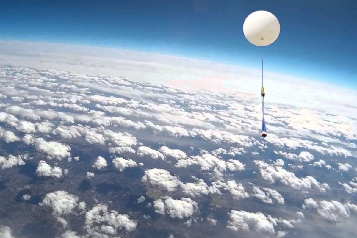 Метеорологический зонд из Колумбийского центра был запущен в Техасе
